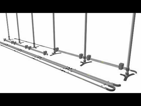 Triga Wall (20'x8' double sided) Frame Assembly (видео)