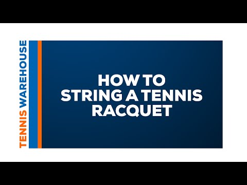Video How to String a Tennis Racquet download in MP3, 3GP, MP4, WEBM, AVI, FLV January 2017