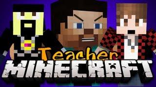 Minecraft: NEW TEACHER MINIGAME! - Game 3 - w/ AntVenom, BajanCanadian and MORE! - EVIL TEACHER!