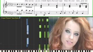 Время и стекло - Песня 404 (Ноты и Видеоурок для фортепиано) (piano tutorial)