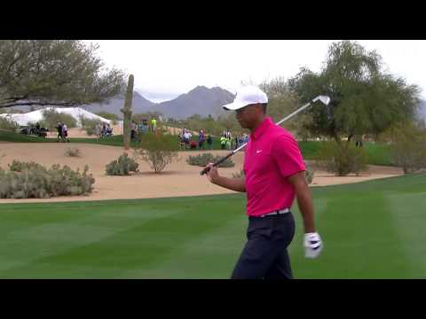 Tiger Woods' approach to inches at 2015 Waste Management Phoenix Open