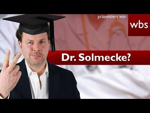Kann ich mir einfach einen Doktortitel kaufen?