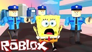 Roblox Adventures / SPONGEBOB GETS ARRESTED! / The Spongebob Movie Adventure Obby