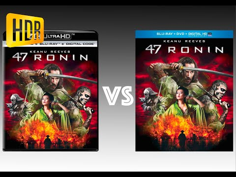 ▶ Comparison of 47 Ronin 4K (2K DI) HDR10 vs Regular Version
