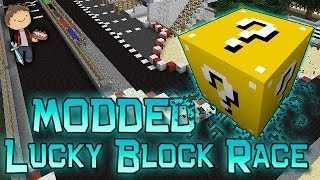 Minecraft: Lucky Block Race! Modded Mini-Game w/Mitch&Friends!