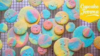 Psychadelic Rainbow Marble Cookies | Cupcake Jemma by Cupcake Jemma