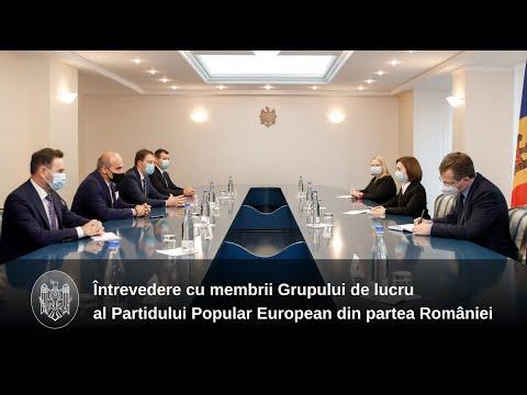 Președintele Maia Sandu a discutat cu membrii Grupului Partidului Popular European din partea României
