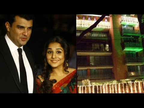 Vidya Balan And Her Husband Siddharth Roy Kapur Spotted At Their House