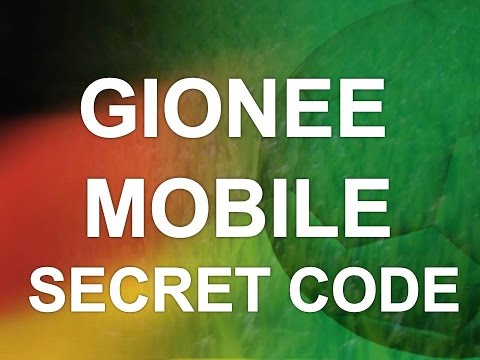 Gionee Mobiles Secret Codes | Hidden | Master Codes | Mobile Codes