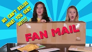 CRAZIEST FAN MAIL EVER!! || Taylor and Vanessa