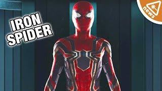 Video First Look at Infinity War Iron Spider's Confirmed Key Feature! (Nerdist News w/ Jessica Chobot) MP3, 3GP, MP4, WEBM, AVI, FLV Maret 2018