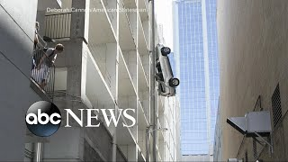 Video Driver survives after car plunges 7 floors in parking garage MP3, 3GP, MP4, WEBM, AVI, FLV November 2017