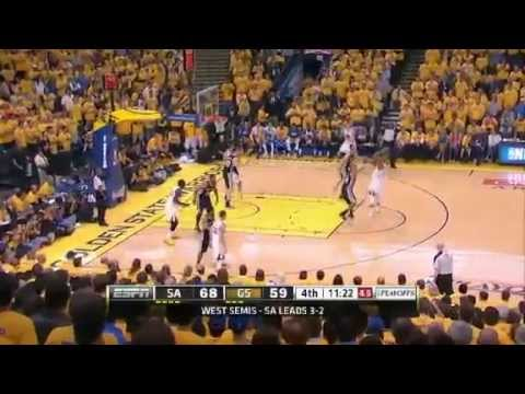 San Antonio Spurs Vs Golden State Warriors - NBA Playoffs 2013 Game 6 - Full Highlights 5/16/13_Kosrlabda legjobb videk. Sport of USA