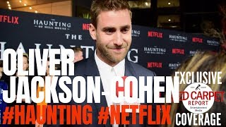 Oliver Jackson-Cohen  interviewed at #Netflix's The #Haunting of Hill House S1 Premiere Event