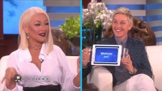 Christina Aguilera plays Heads Up on Ellen (Sings Adele, Rihanna & Whitney Houston)