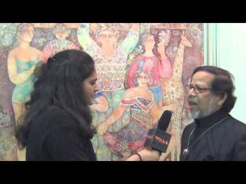Manu Parekh and Sakti Burman at Art Alive Gallery Booth, India Art Fair