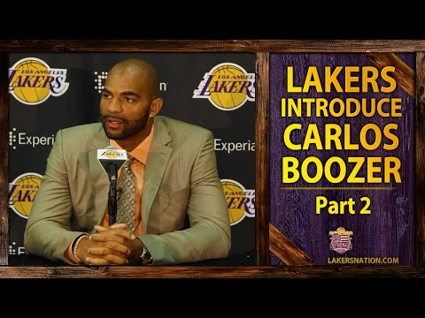 Video: Lakers Introduce Carlos Boozer (PT. II): On Kobe Bryant's Message