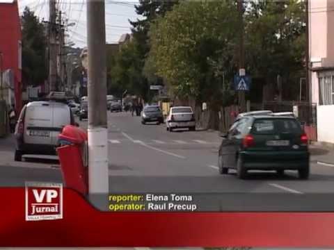 Stâlpi pe strada Kogălniceanu