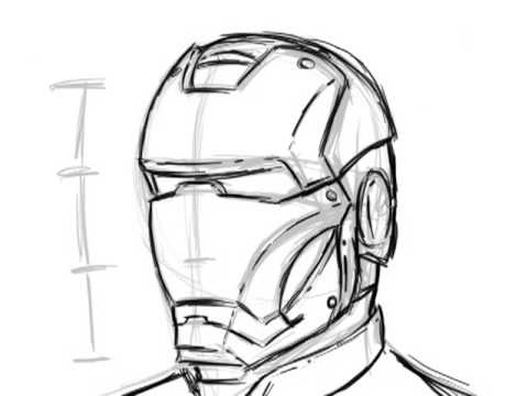 Extremely Simple Way to Draw Ironman
