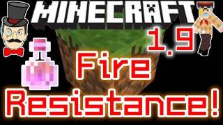 Minecraft 1.9 FIRE RESISTANCE Potion ! Swim in Lava for 8 Minutes !