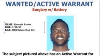 Antonio Brown Considered Armed & Dangerous As Police Put Out An Arrest Warrant by Obsev Sports