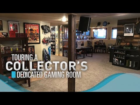 Touring a Video Game Collector's Dedicated Gaming Room!