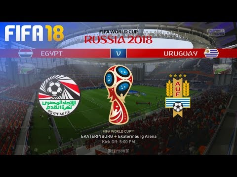FIFA 18 World Cup - Egypt Vs. Uruguay @ Ekaterinburg Arena (Group A)