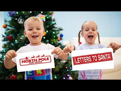 Gaby and Alex Decorating Christmas Tree and Writing Letters to Santa