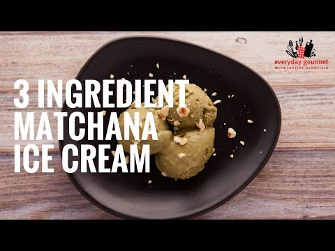 BLACKMORES Matcha Green Tea and Banana Ice Cream | Everyday Gourmet S6 E14