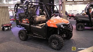 9. 2018 Honda Pioneer 700 4 Utility ATV  Walkaround  2017 Toronto Snowmobile ATV Show