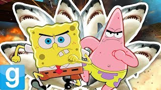 SPONGEBOB SHARK DEATHMATCH?! | Gmod Funny Mini-Game (SPONGEBOB'S SHARK CHALLENGE) • MrGibbsPowerOn