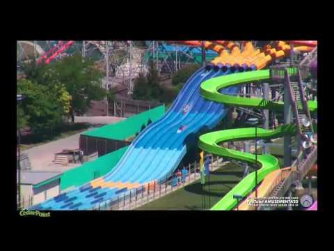SOAK CITY SLIDES from Cedar Point Web Cam HD (видео)
