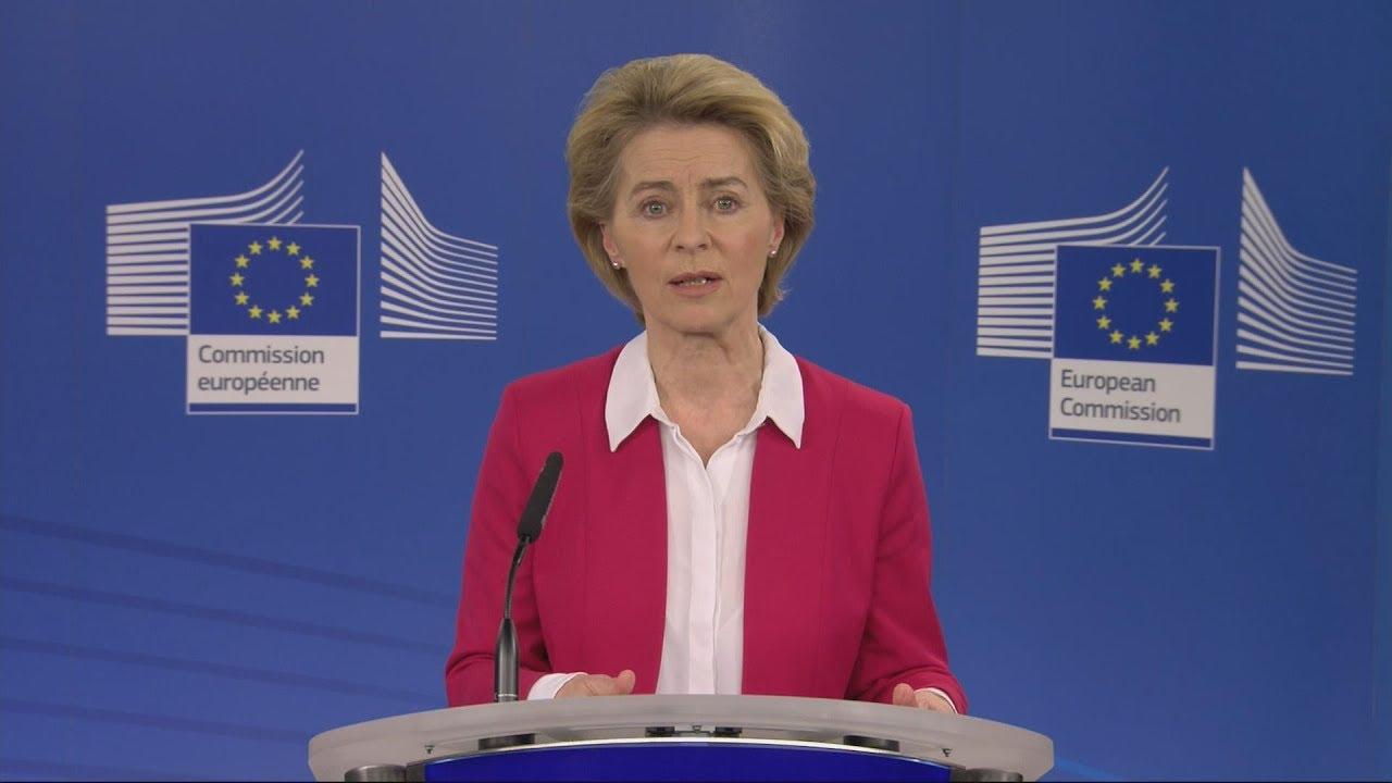 Απόσπασμα απο τη συνέντευξη τύπου της Προέδου της Ευρωπαϊκής Επιτροπής