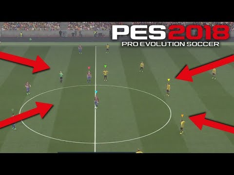 PES 2018 NEW Co-op 3v3 Official Gameplay Atletico Madrid vs Borussia Dortmund