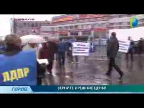 Пикет ЛДПР против повышения стоимости социального проездного в Нижегородской области