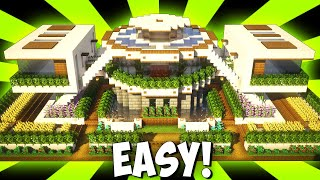 Minecraft: Big Modern House / Mansion Tutorial - [ How to Make Realistic Modern House ] 2021