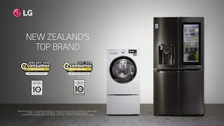 LG, New Zealand's Top Brand for Washing Machines and Refrigerators