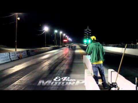 Corvette gains control again after flying across drag strip