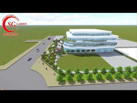 Thiết kế cảnh quan công ty xây dựng Hiệp Hòa