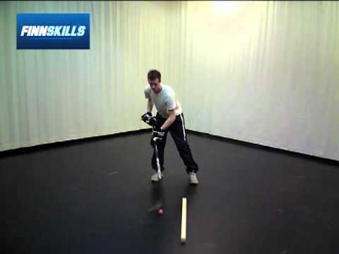 Saucer pass over the blade – Finnskills Technique Ball – Hockey Drills