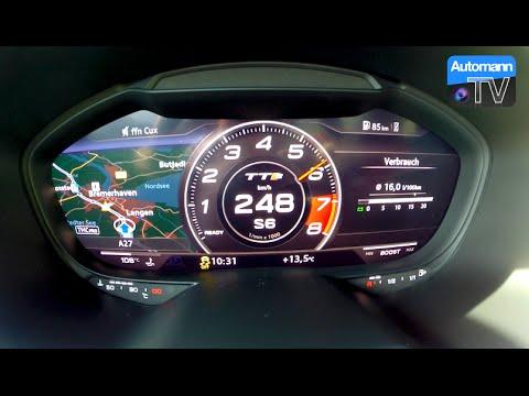 audi tts 2016 accelerazione 0-251km/h