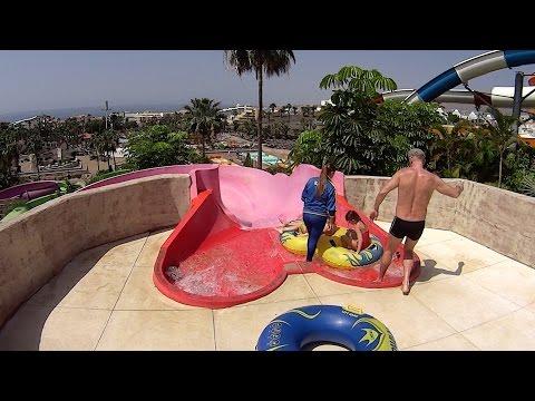 video pink rapid water slide at aqualand. Black Bedroom Furniture Sets. Home Design Ideas