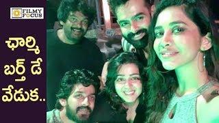 Charmy Kaur Birthday Celebrations at Ismart Shankar Movie Sets - Filmyfocus.com