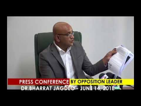 Press Conference by Opposition Leader Dr Bharrat Jagdeo  June 14th 2018