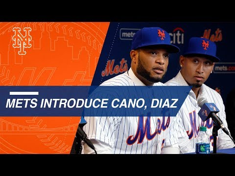 Video: Mets introduce Robinson Cano and Edwin Diaz at press conference