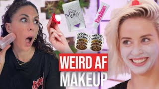 9 Weirdest Makeup Products We've Ever Tried! (Bonus Break) by Clevver Style