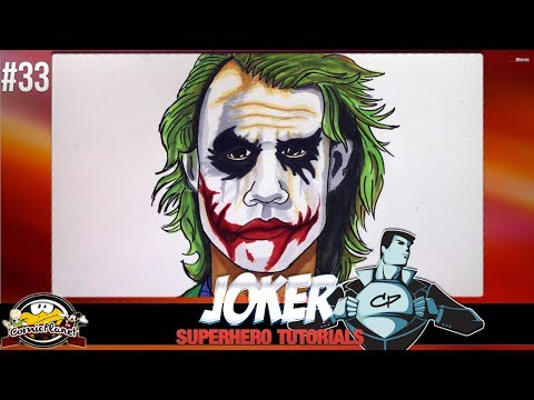 Comic Tutorial – Wie zeichnet man Joker (DC Comics) #33