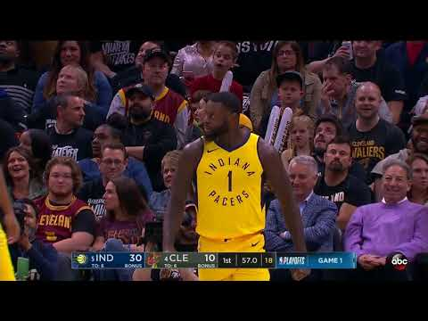 Lance Stephenson vs Cavaliers Game 1 throws it down!