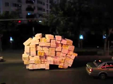 Check Out This Overloaded tricycle in China!