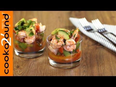 cocktail di gamberi alla messicana - ricetta